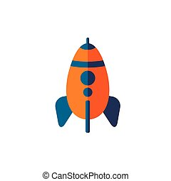Color of rocket flat vector icon