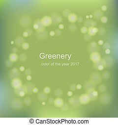 Color of the year 2017. Greenery trendy background
