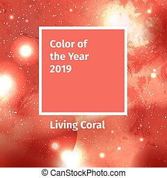 Color of the year 2019. Color trend palette. Swatch Living...
