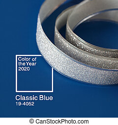 Color of the year 2020 Classic Blue background.
