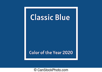 Color of the year 2020 Classic Blue trendy banner