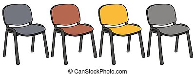 Color office chairs