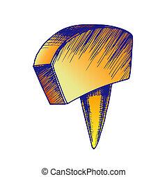 Color Office Stationery Thumbtack Push Pin Tool
