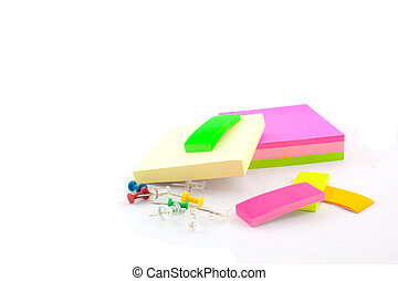 office supplies on a white background