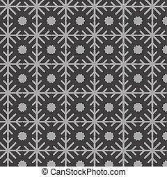 ornamental snowflakes pattern