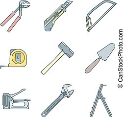 color outline house remodel tools i