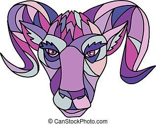 color oveja, carnero, carnero, mosaico