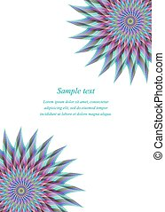 Color page corner design template