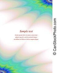 Color page corner ornament brochure template - Color page...