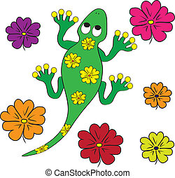 color page geko lizard