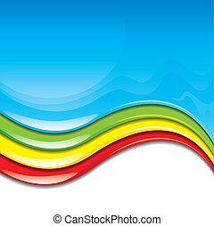 Color Paint - Colorful paint flowing background. vector ...