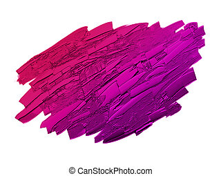 Color paint isolated on white background