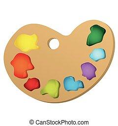 color paint palette icon, vector illustraction design image