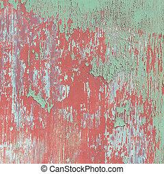 Color paint peeling off texture background