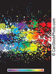 Color paint splashes abstract background