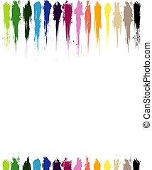 Color paint splashes background illustration