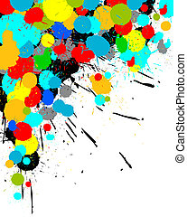Color paint splashes background