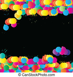 Color paint splashes vector background