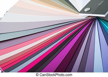Color paint swatch.