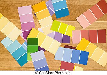 Color paint swatches.