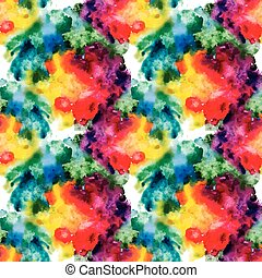 Color paints seamless pattern, vector background.
