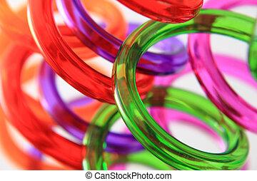 Color, pajas, Espiral, plástico