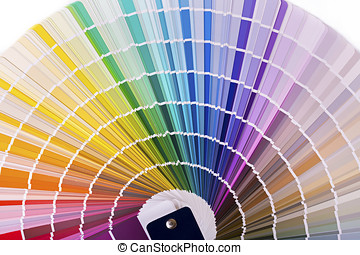 color palette, catalog with design paint samples