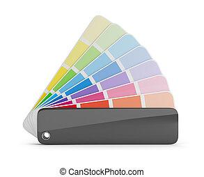 color palette - Color palette guide. 3d image. White...