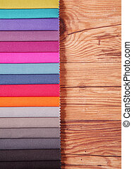 Color Palette Guide for Interior on Wooden Table - Color...