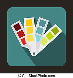 Color palette guide icon, flat style