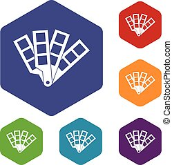 Color palette guide icons set