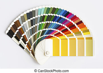 Color Palette Guide Isolated on White Background. Sample Colors Catalogue.