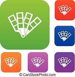 Color palette guide set collection