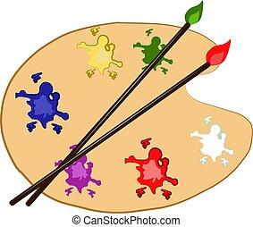 Color palette, illustration, vector on white background.
