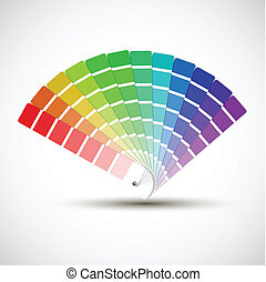 Color palette isolated on white background, color vector...
