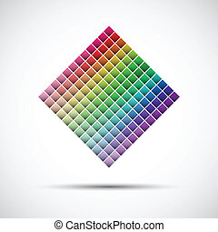 Color palette isolated on white background, vector illustration