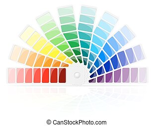color palette vector illustration