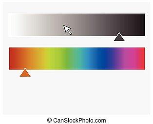 Color Palette with Slider Vector Illustration