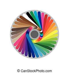 Color pallete swatces circle
