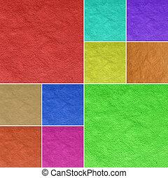 color paper art - multicolor vintage paper collage