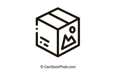 color paper box Icon Animation