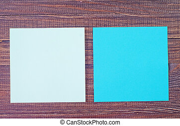 color paper on wooden background
