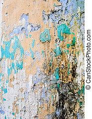 color, pared, viejo, textura