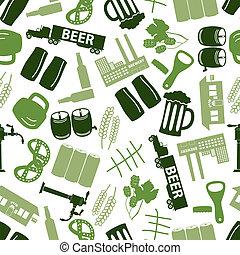 color, patrón, cerveza, eps10, icono