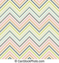 color, patrón, tibio, zigzag