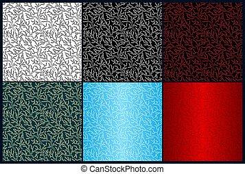 color, patrones, diferente, conjunto, relámpago