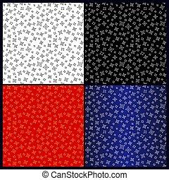 color, patrones, diferente, seamless, estrellas