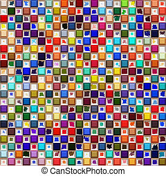 color pattern - seamless texture of many bright colored ...