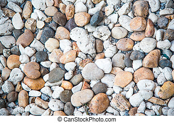 Color pebble stone in background.