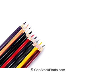 color pencil. isolated on white background. photo with copy space